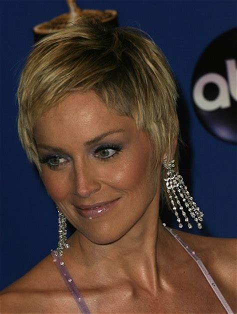 hairstyles: sharon stone – pixie haircut | sophisticated