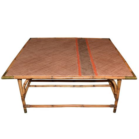 Rattan Table L Harbinger David Rattan Coffee Table For Sale At 1stdibs
