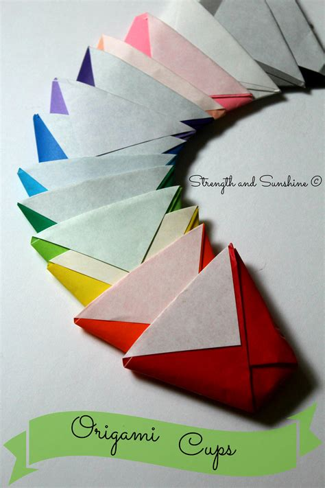 Origami Paper Cup - the origami cup strength and
