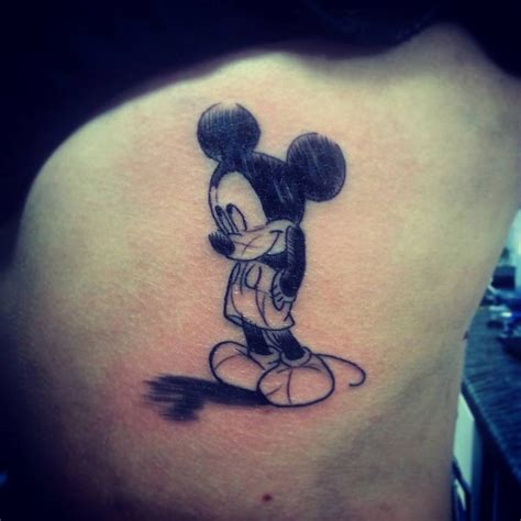 mickey tattoos mickey mouse sketch best design ideas