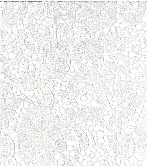 Joann Home Decor Fabric by Bridal Collections Embroidered Heavy Lace White Fabric