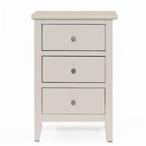 White 3 Drawer Bedside Table Florida White 3 Drawer Bedside Table 01 Liter