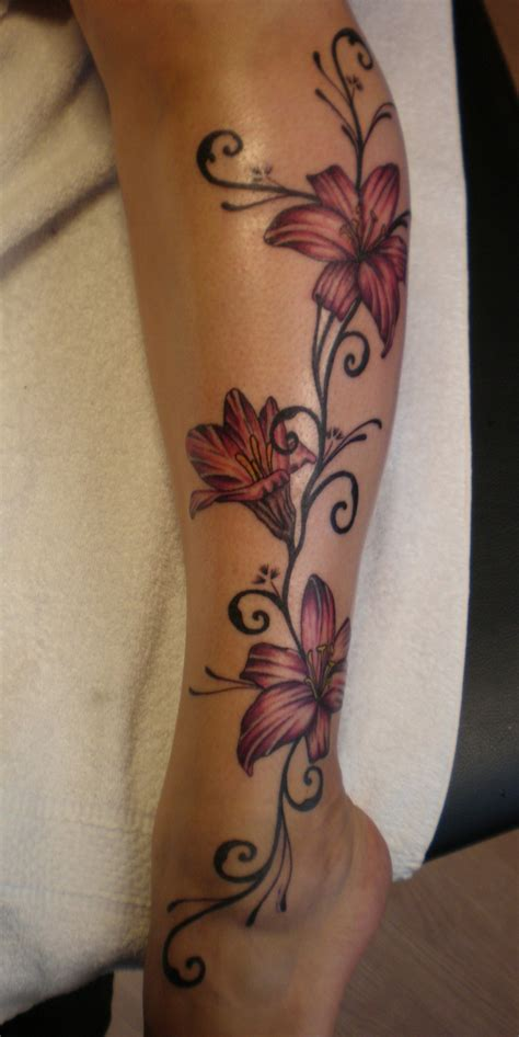 tattoo design in legs flower tattoo designs on leg design idea