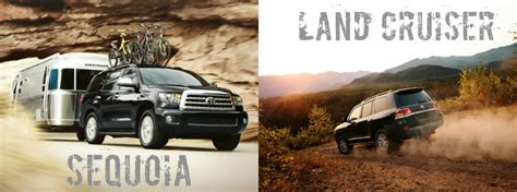 Toyota Sequoia Vs Toyota Land Cruiser 2016 Toyota Sequoia Vs 2016 Toyota Land Cruiser