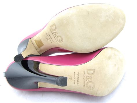 Dolce Gabbana Perspex Patent Dorsay by 585 Dolce Gabbana Pink Fuschia Patent Leather Bow