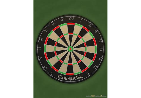 pattern of numbers on a dartboard vector dart board free vector art at vecteezy