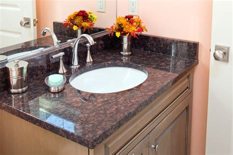 Top Of Kitchen Cabinet Decor Ideas by Tan Brown Granite Vanity Traditional Bathroom Boston