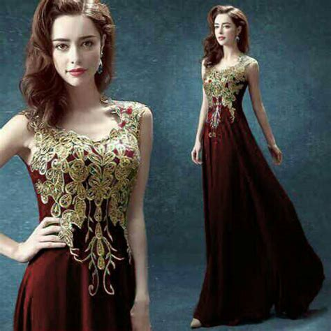 Dress Import Murah 1833 Maroon baju maxi dress renda cantik model terbaru murah