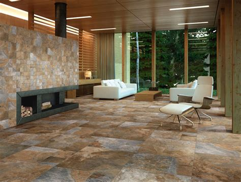 Tile Flooring Living Room Sintesi Newslate Living Room Rustic Wall And Floor Tile New York By Buytile