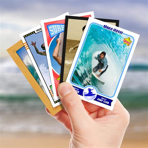 cards make your own make your own surfing card