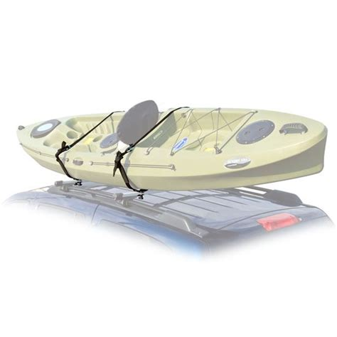 car roof top mount kayak carrier rack with tie straps
