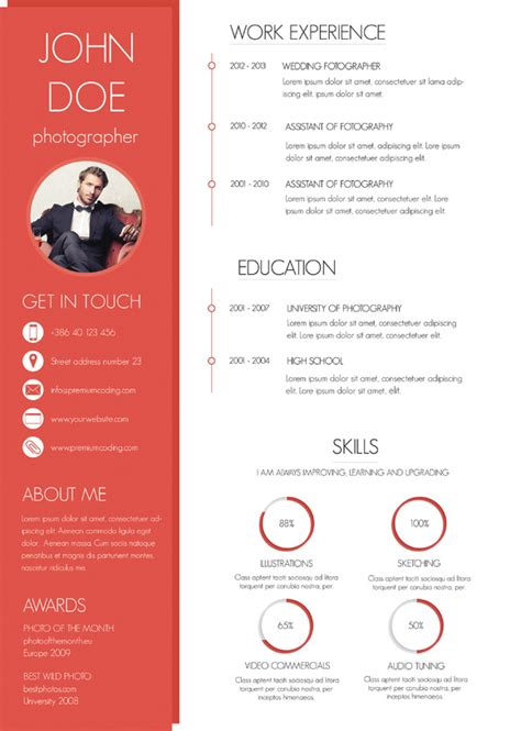 a colorful and modern resume resume templates on