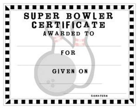 printable bowling gift certificates 33 best images about certificate ideas on pinterest free