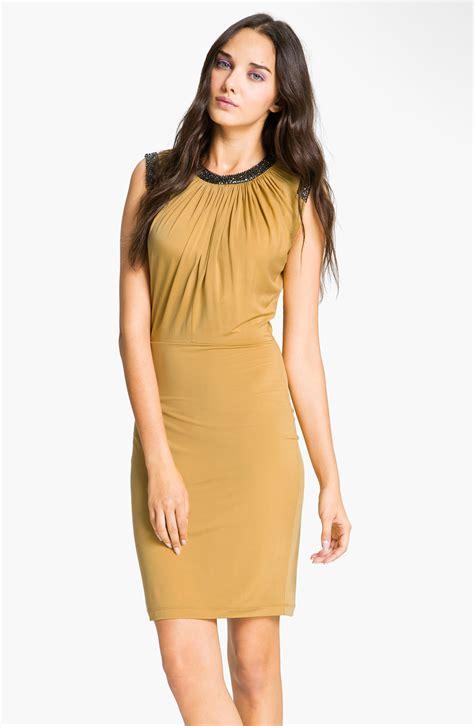 robert rodriguez jewelry robert rodriguez embellished bodice dress in gold