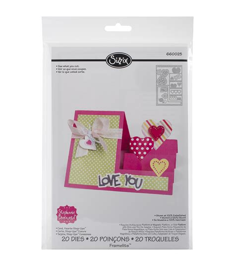 Sizzix Catalog Sale At Hearts N Crafts Etc Featuring Sizzix | sizzix framelits dies by stephanie barnard 20 pkg hearts