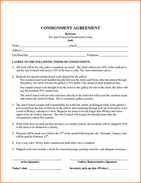Agreement Letter Meaning In consignment agreement template sales report template bunch