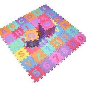 36pcs soft foam baby children play mat alphabet
