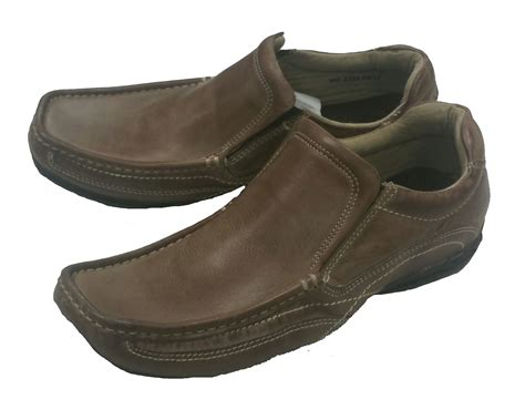 mens real leather casual loafers moccasins comfort wide