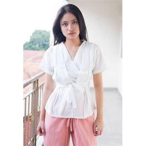 Baju Atasan Cewek Wanita Baru Dress White Ak Dress Wanita baju atasan wanita yusfina top lengan pendek terkini harga murah bandung dijual tribun