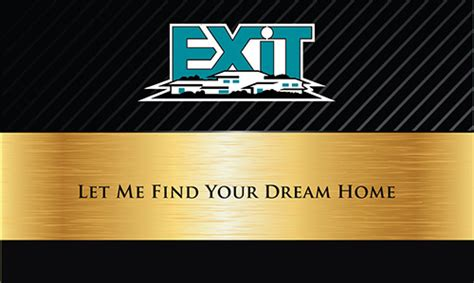exit realty business cards template exit realty business cards templates printifycards