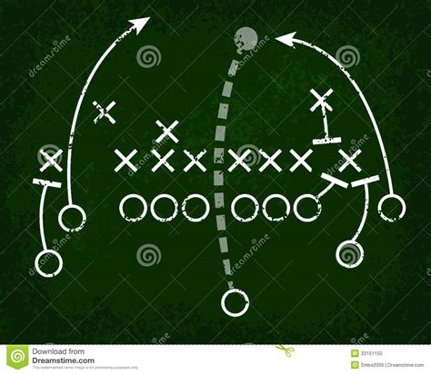 football x and o template football play chalkboard stock photo image 33151150