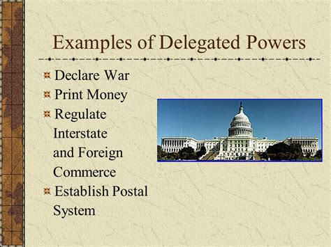 exle of reserved powers limits to government power for a 12th grade government
