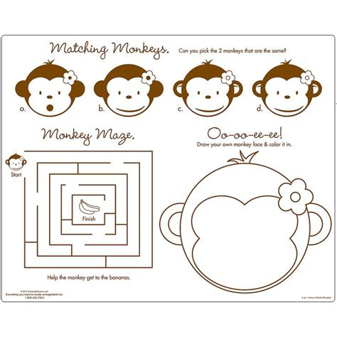 mod monkey coloring pages color and cut out make a body and glue parts together