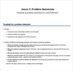The Of Template by Sle Problem Statement 8 Documents In Pdf Word