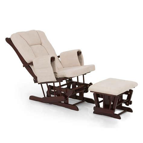 Reclining Nursing Chair by New Hauck Walnut Beige Deluxe Reclining Glider Nursing