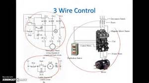 ladder diagram basics 3 2 wire 3 wire motor circuit