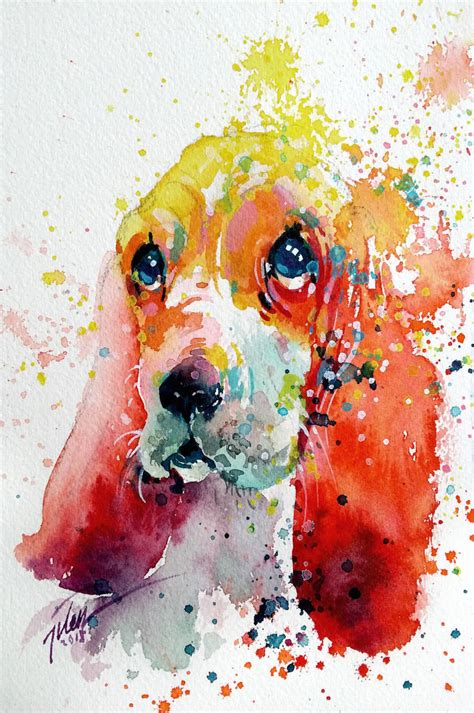 water color animals colorful splashed watercolor animals paintings fubiz media