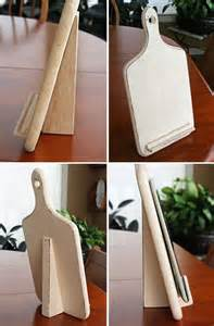 Cutting Board Cookbook Stand
