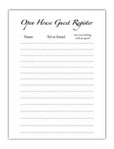 open home register template realtor open house sheet open house guest register