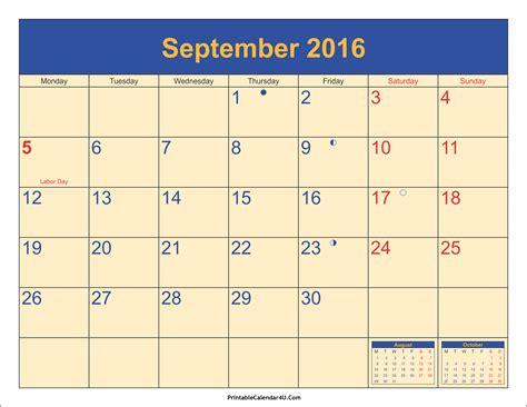 blank calendar september 2016 september 2016 calendar printable with holidays pdf and jpg