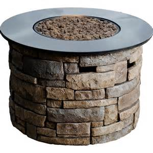 Bond Firepits Shop Bond Ridge 36 6 In W 50 000 Btu Brown Composite Liquid Propane Column At Lowes