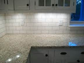 How To Lay Tile Backsplash In Kitchen Kitchen Subway Tile Backsplash Ideas With White Cabinets