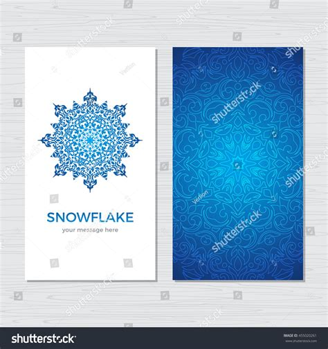 snowflake card template and new year snowflake vertical card vintage