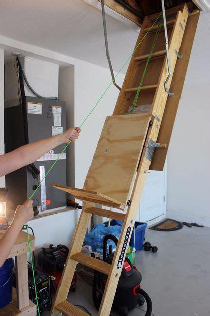 Garage Ladder Storage System by 25 Best Ideas About Attic Ladder On Attic