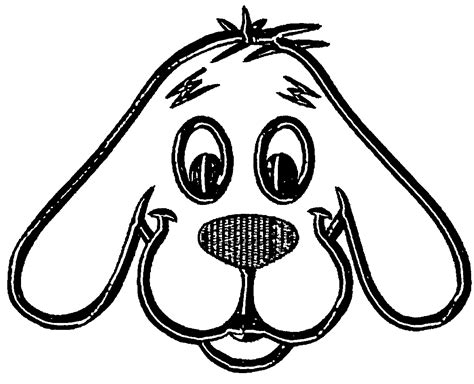 coloring pages of dog faces dog face coloring page coloring home