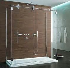 hanging glass shower door 1000 images about shower barn door on shower