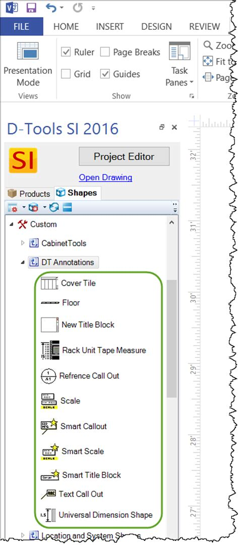 visio user guide annotation shapes d tools