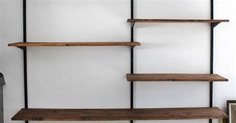 diy mounted shelving unit more wall spaces shelving and