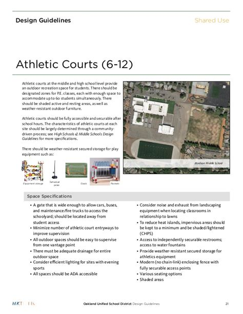 design guidelines for schools ousd design guidelines shared use 130205