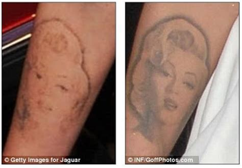 bombshell tattoo removal rheass megan fox gets marilyn lasered