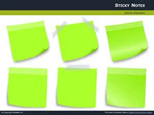 Sticky notes with pins for powerpoint thumb5