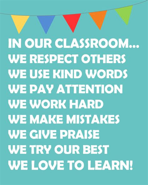 in our classroom we do poster free printable