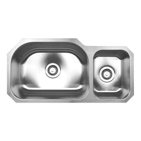 brushed stainless steel undermount kitchen sink whitehaus collection noah s collection undermount brushed stainless steel 32 3 4 in 0