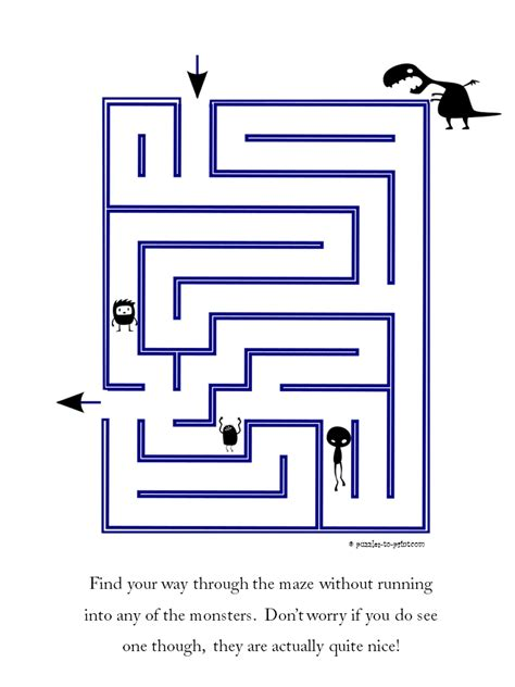 halloween maze printable easy easy maze friendly monsters
