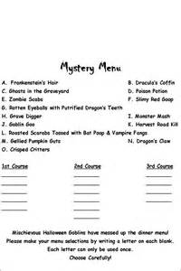 mystery dinner menu all the pieces of me 2011 ideas