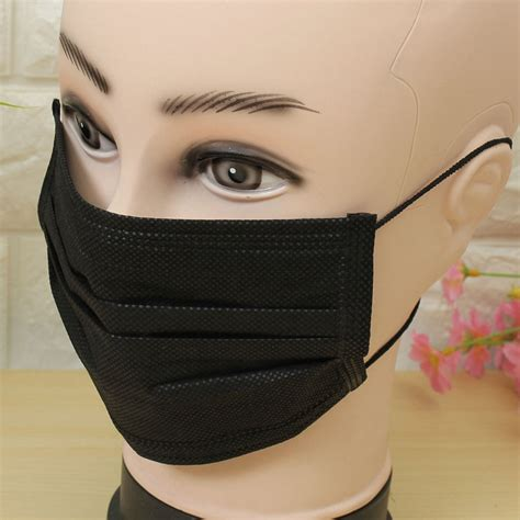 mouth mask 10x new black anti dust medical face mouth mask disposable